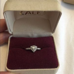 Zales 14k white gold and diamond ring